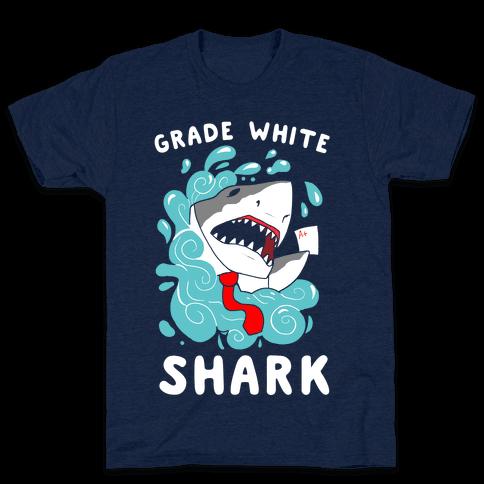 Grade White Shark Mens T-Shirt