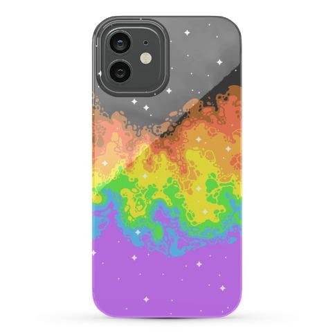 Psychedelic Nebula Pride Flag Phone Case