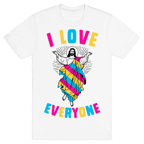 I Love Everyone (Jesus) Mens T-Shirt
