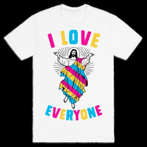 I Love Everyone (Jesus) Mens T-Shirt
