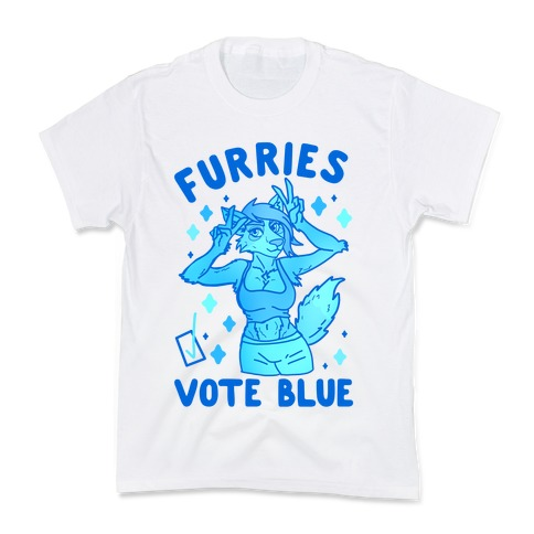Furries Vote Blue Kids T-Shirt