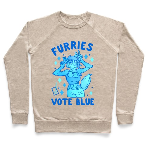 Furries Vote Blue Pullover
