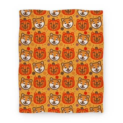 Shiba Inu Pumpkins Blanket