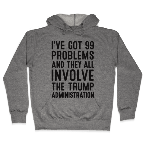 I've Got 99 Problems And They All Involve The Trump Administration  Hooded Sweatshirt