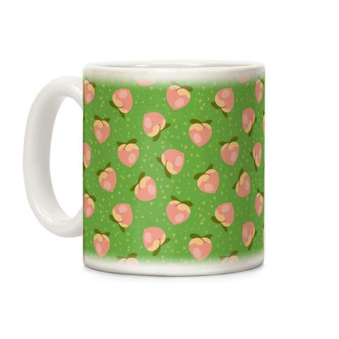 Peach Pattern Coffee Mug