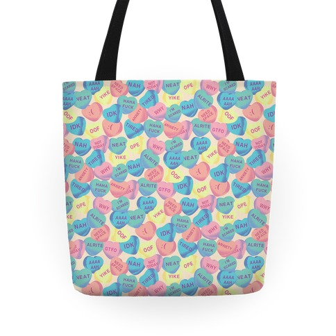 Awkward Candy Hearts Tote