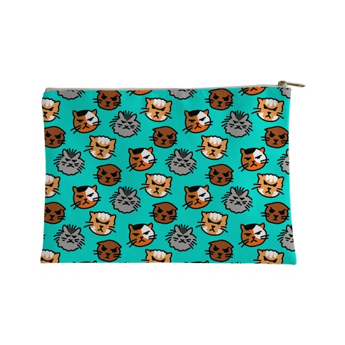 Angry Kitty Pattern Accessory Bag