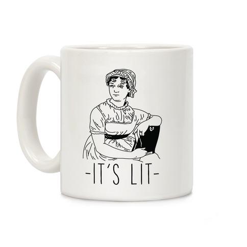 It's Lit Jane Austen Coffee Mug