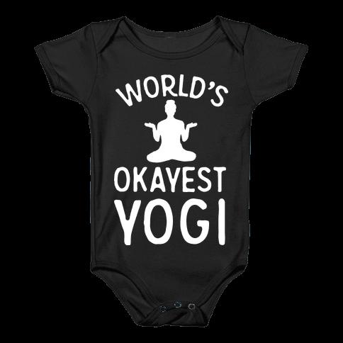 World's Okayest Yogi Baby Onesy