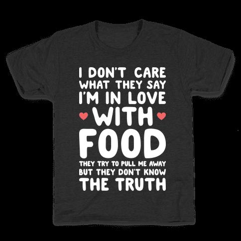 Bleeding Love For Food Kids T-Shirt