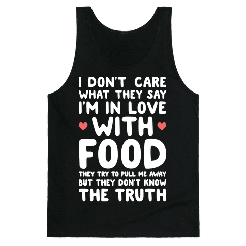 Bleeding Love For Food Tank Top