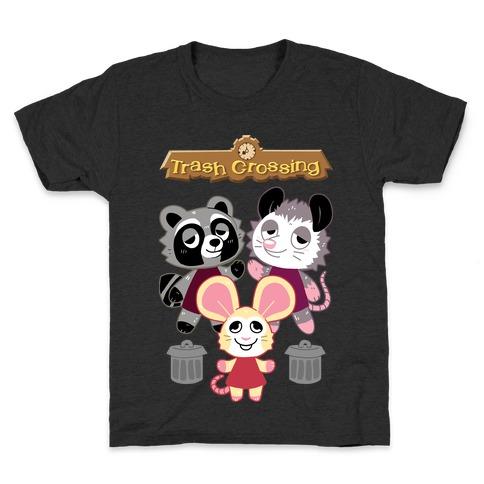 Trash Crossing Kids T-Shirt