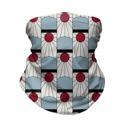Tanjiro Earrings Pattern Neck Gaiter