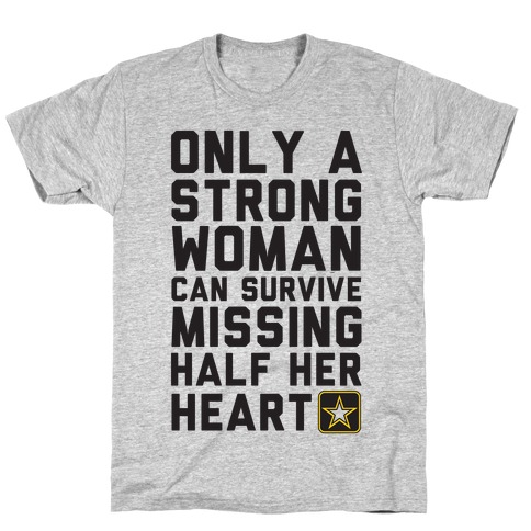 Only A Strong Woman Army Mens T-Shirt