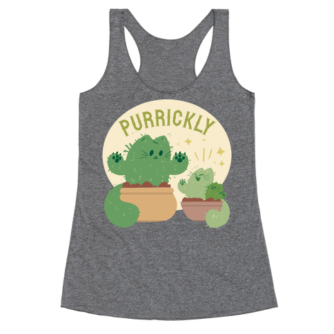Purrickly! Racerback Tank Top