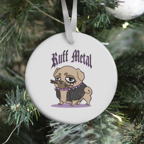 Ruff Metal Ornament
