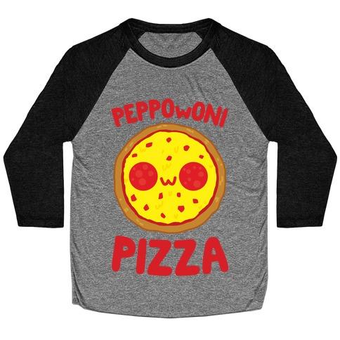 PeppOwOni Pizza Baseball Tee