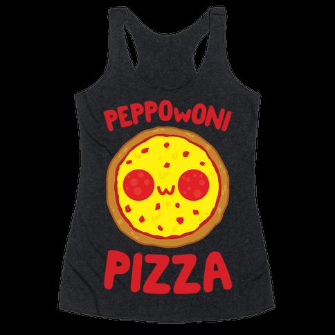 PeppOwOni Pizza Racerback Tank Top