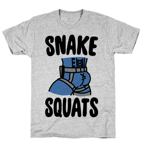 Snake Squats Parody Mens/Unisex T-Shirt
