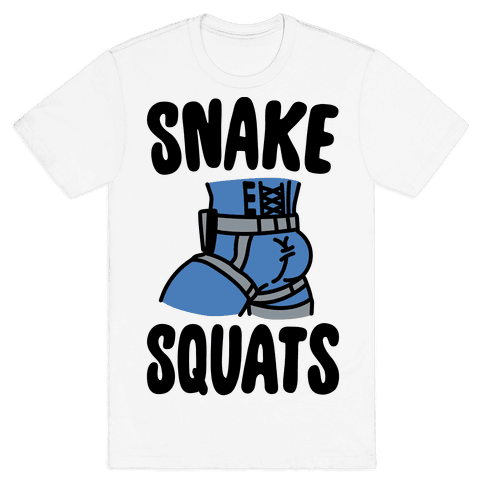Snake Squats Parody Mens T-Shirt