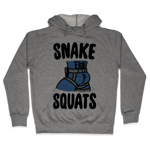Snake Squats Parody Hooded Sweatshirt