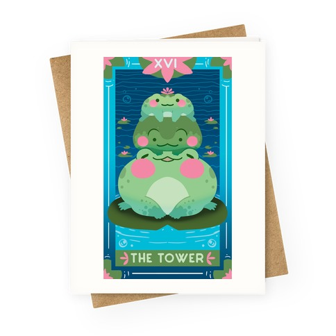 The Tower of Frogs Greeting Card