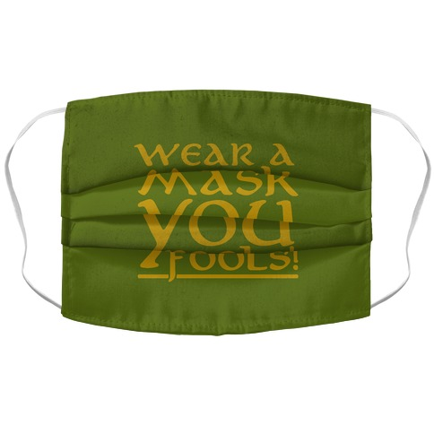 Wear A Mask You Fools Parody Accordion Face Mask
