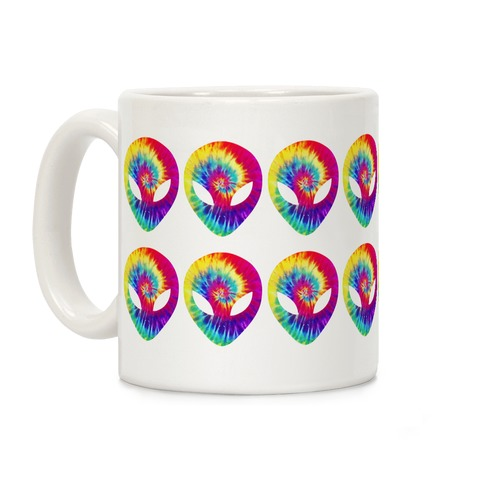 Tie Dye Alien Coffee Mug