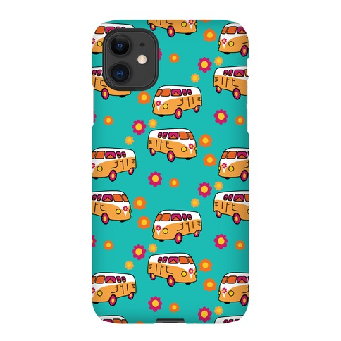 Retro Flower Bus Pattern Phone Case