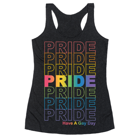 Pride Thank You Bag Parody Racerback Tank Top