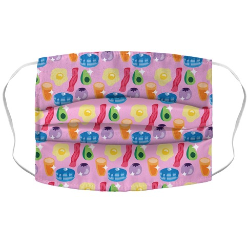 Gay Breakfast Pattern Accordion Face Mask