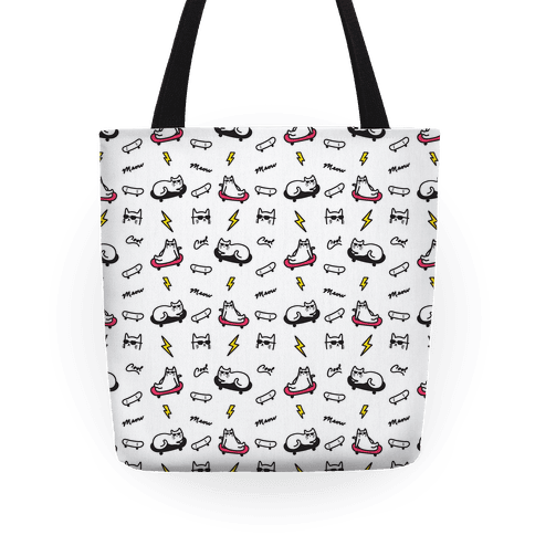 Cool Cats Pattern Tote