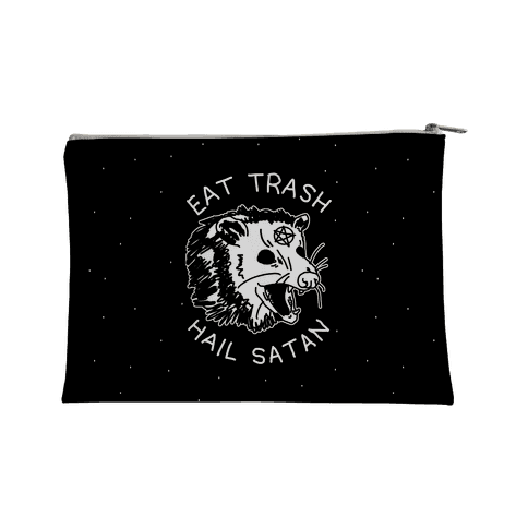 Eat Trash Hail Satan Possum Accessory Bag