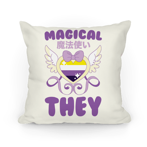 Magical They - Non-binary Pride Pillow
