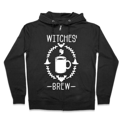Witches' Brew Coffee Zip Hoodie