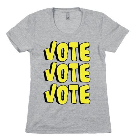 Vote Vote Vote! (Yellow) Womens T-Shirt
