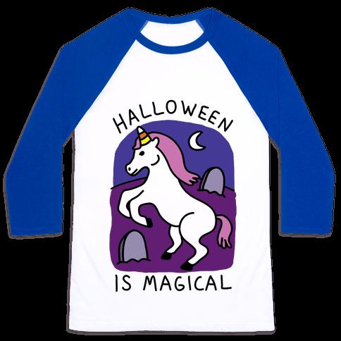 Halloween Is Magical Baseball Tee