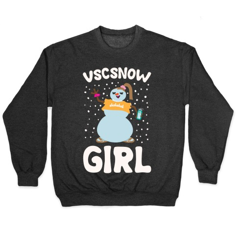 Vscsnow Girl Parody White Print Pullover