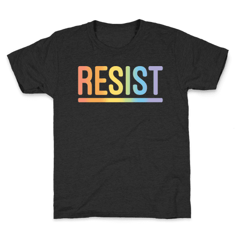 Rainbow Resist White Print Kids T-Shirt