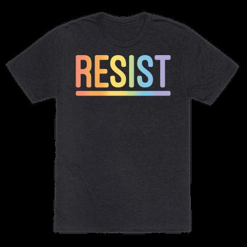 Rainbow Resist White Print