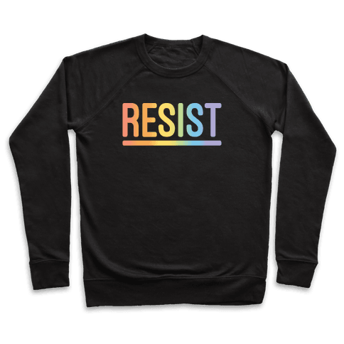 Rainbow Resist White Print Pullover