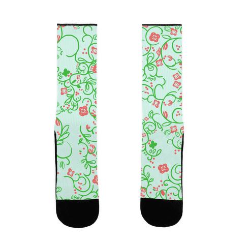 Spring Flora Pattern Sock