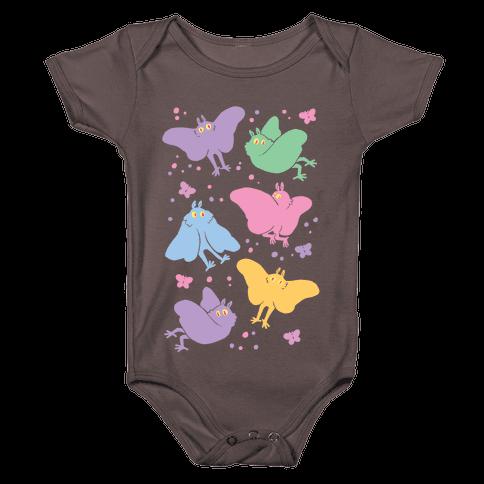 Cute Pastel Mothman Baby One-Piece