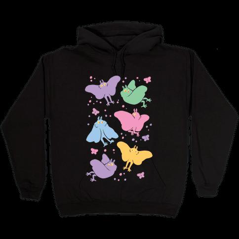 Cute Pastel Mothman Hooded Sweatshirt