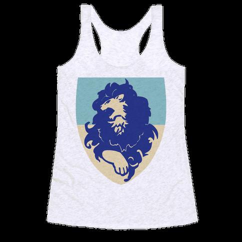 Blue Lion Crest - Fire Emblem Racerback Tank Top