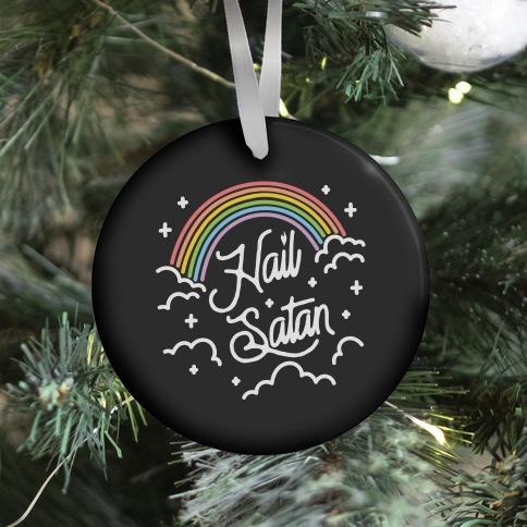 Hail Satan Rainbow Ornament
