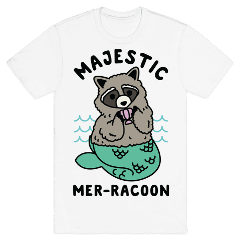 Majestic Mer-Raccoon Mens T-Shirt