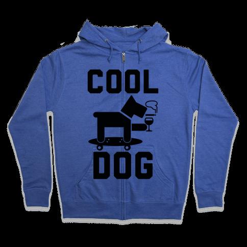 Cool Dog Zip Hoodie