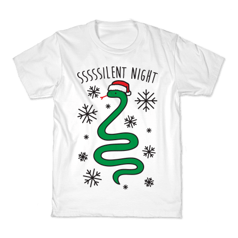 Sssssilent Night Snake Kids T-Shirt