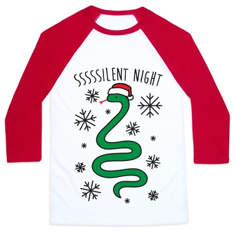 Sssssilent Night Snake Baseball Tee